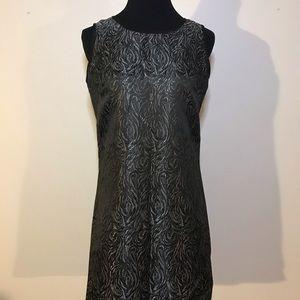 Nine West metallic sheen swirl dress SZ 2